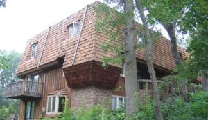 Twin Cities cedar roof and cedar siding power washing