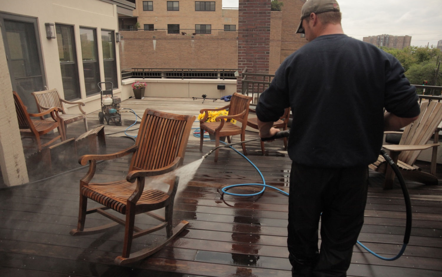 outdoor wood power washing in st paul